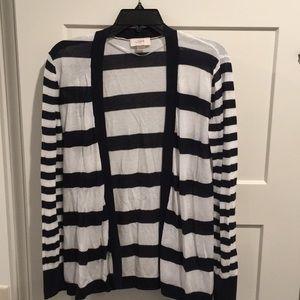 Loft Navy/White Stripe Cardigan